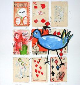 Lithographie - Marion Filzek - Wie wärs mit einem Spielchen