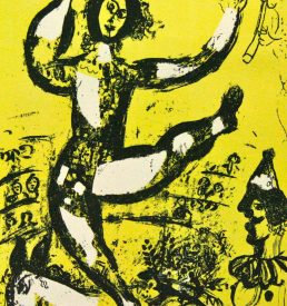 Originallithographie - Chagall - Zirkus