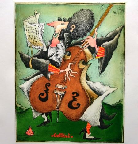 Radierung sign. - Lemant - Cellist