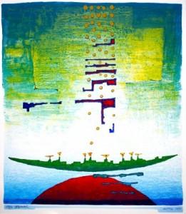 Lithographie - Klaus Brandner - Lautlos