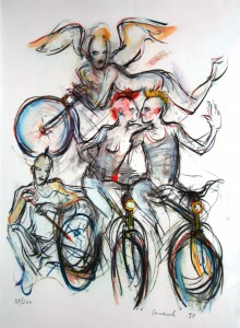 Granolitho - Mario Comensoli - Velofahrer
