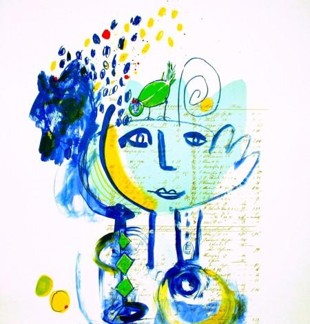 Lithographie - Marion Filzek - Komm zu mir