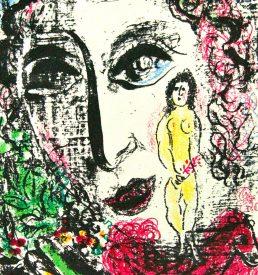 Lithographie - Chagall - Auftritt im Zirkus