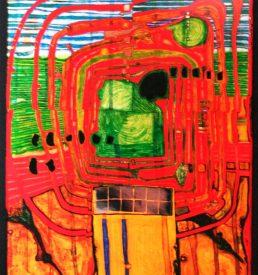 Kunstdruck - Hundertwasser - Hommage au tachisme
